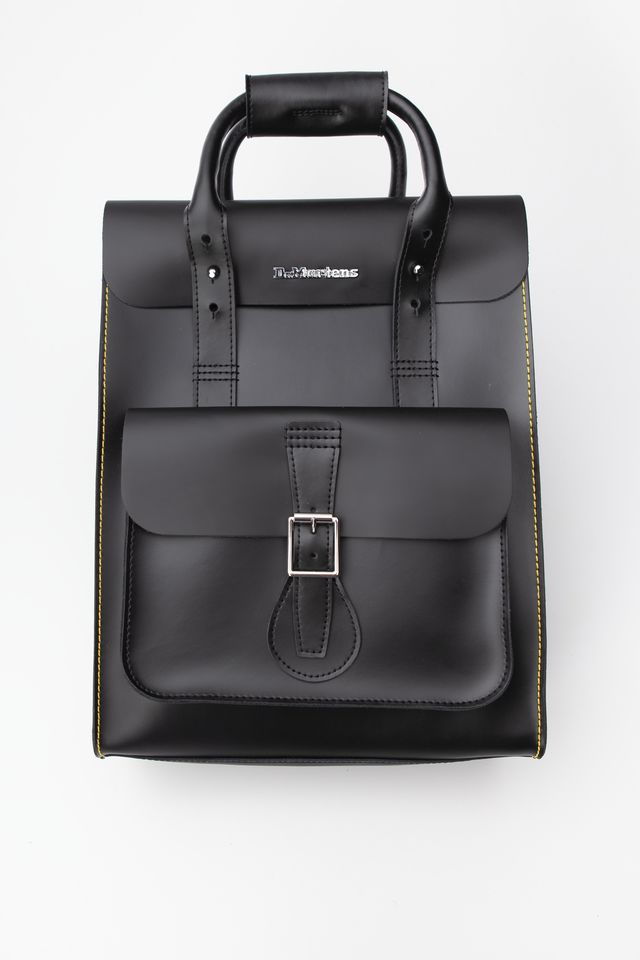 Dr. Martens SMALL LEATHER BACKPACK 001 BLACK/BLACK KIEV & SMOOTH DMAB100001