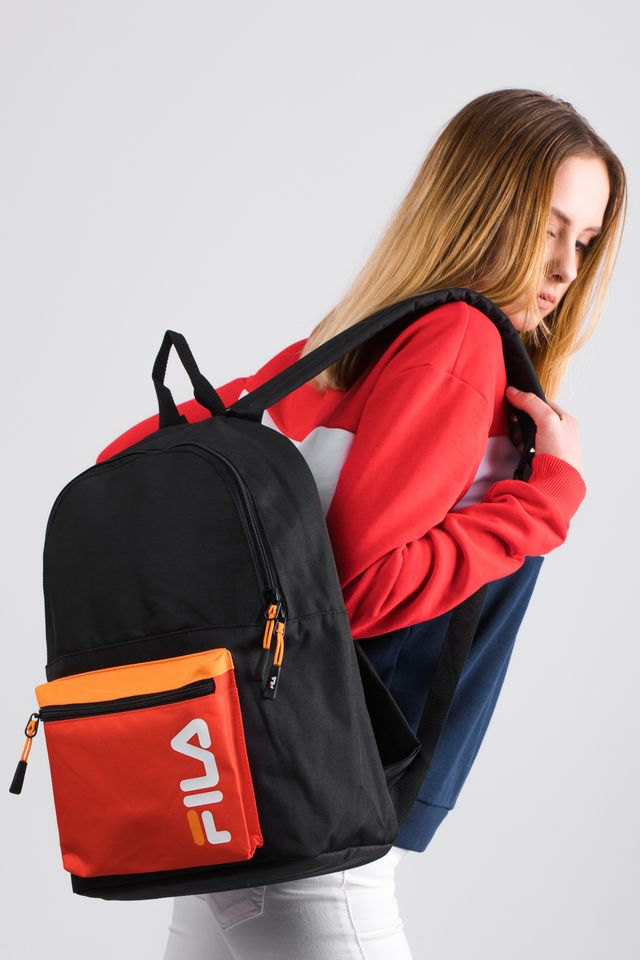 Plecak Fila  <br/><small>BACKPACK S'COOL L27 BLACK/FIERY RED </small>  685005-L27