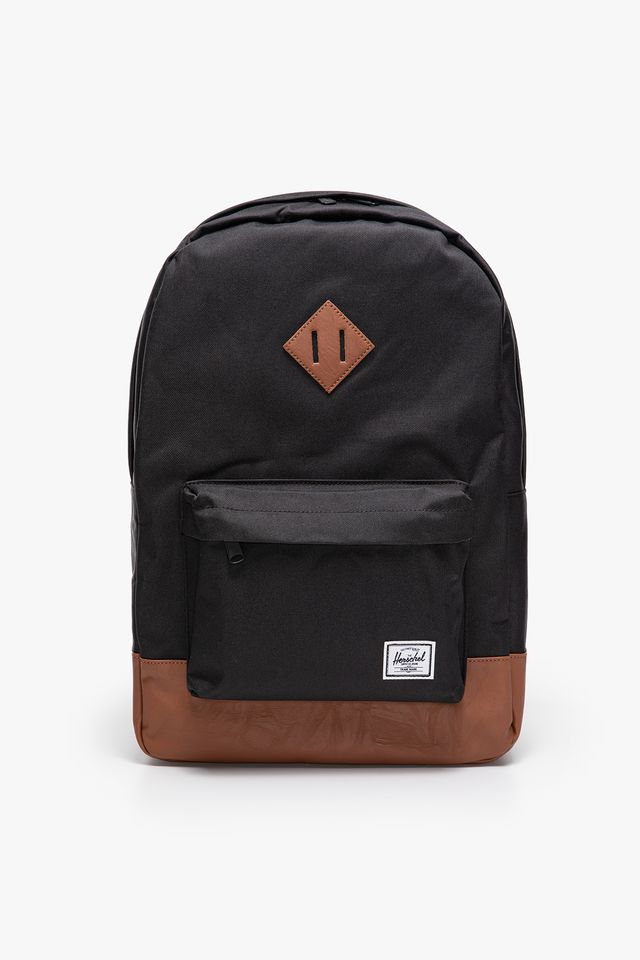 BLACK/TAN HERITAGE BACKPACK 00055