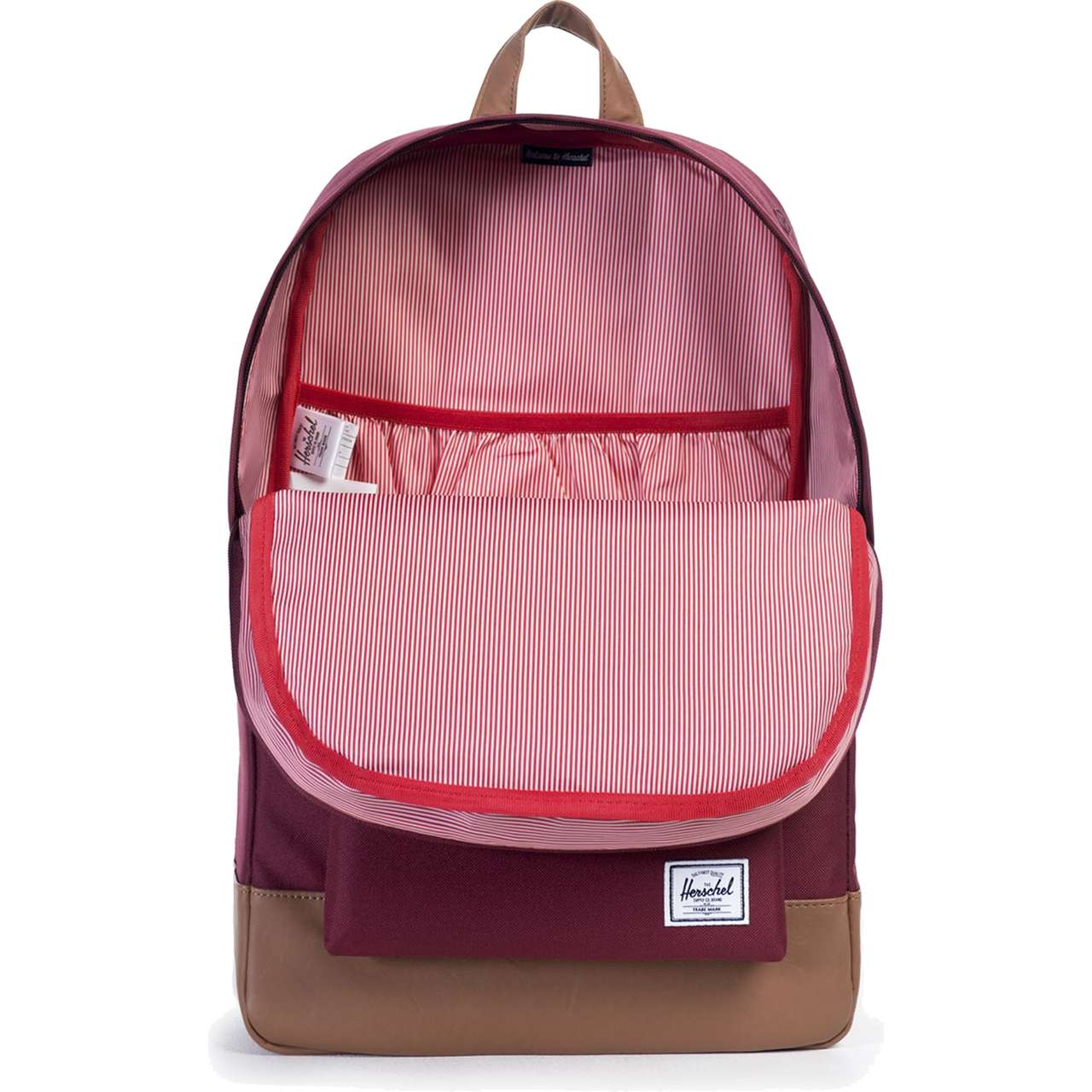Plecak Herschel  <br/><small>HERITAGE BACKPACK 00746 WINE/TAN </small>  10007-00746