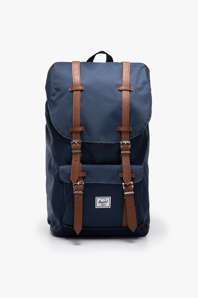 Navy/Tan PLECAK 25 L Little America  Synthetic Leather 10014-00007
