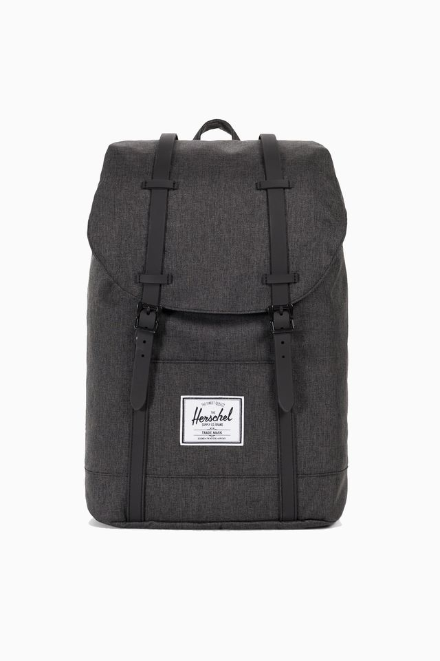 Herschel Retreat Black Crosshatch/Black Rubber 10066-02093