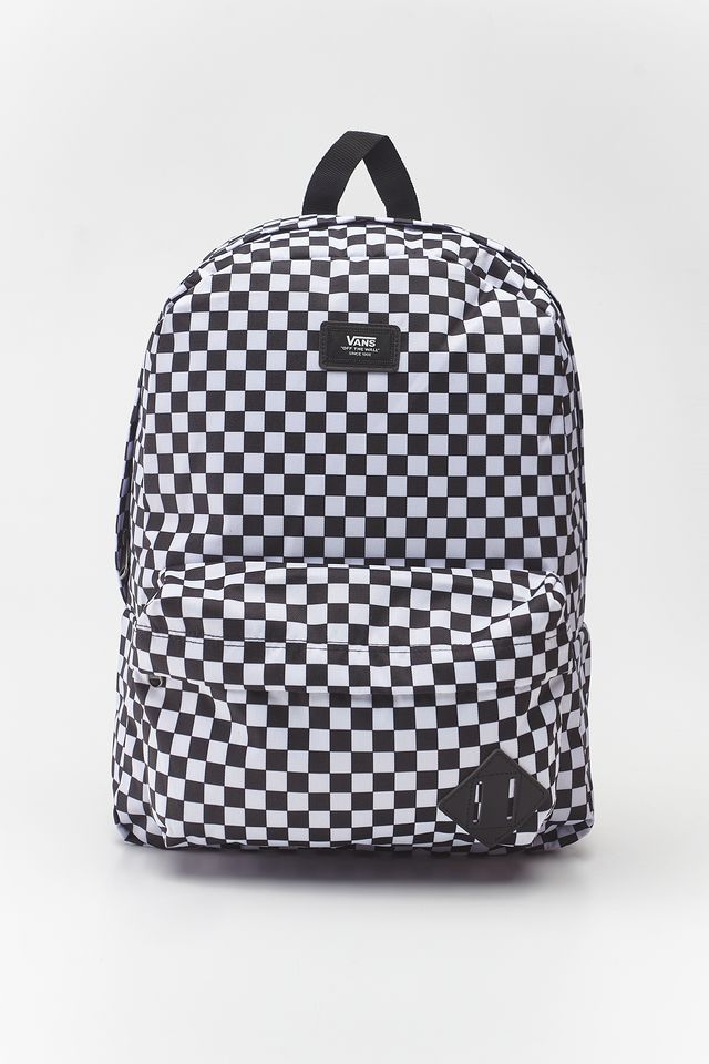 BLACK/WHITE CHECKERBOARD OLD SKOOL III BACKPACK HU0