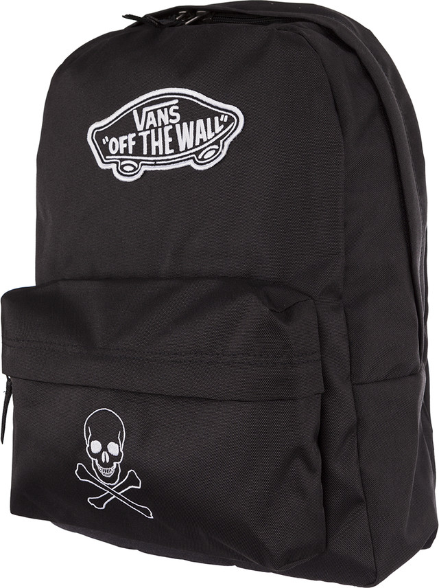 Vans REALM BACKPACK BLK JOLLY ROGER JR00NZ0BLKJR