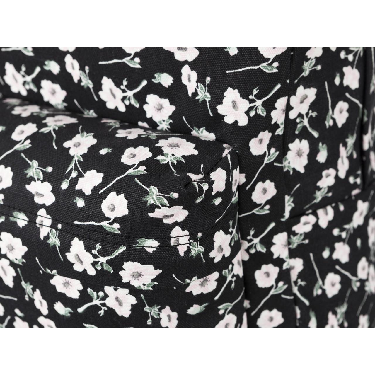 plecak vans czarny w białe kwiaty