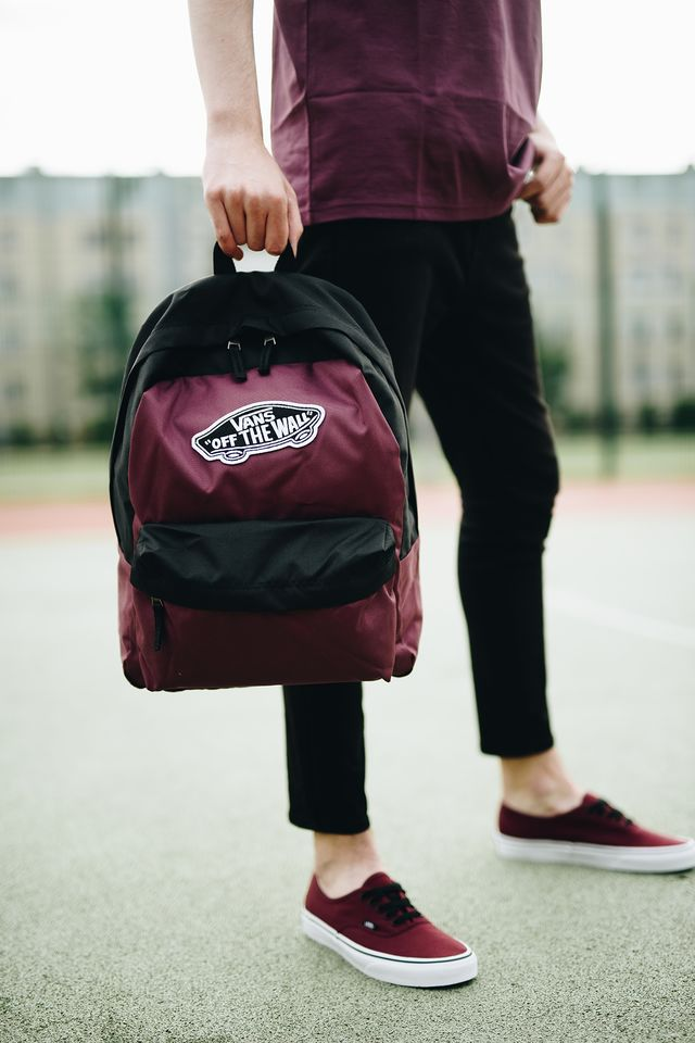 Vans REALM BACKPACK TQR BURGUNDY/BLACK VN0A3UI6TQR1