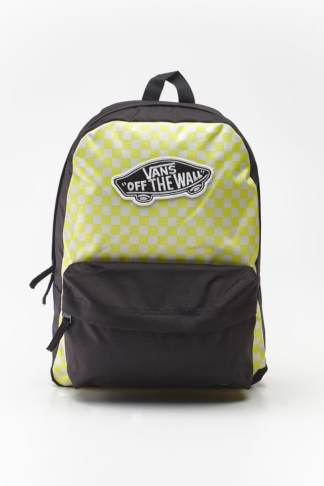 Vans REALM BACKPACK VD7 LEMON TONIC CHECKERBOARD VN0A3UI6VD71
