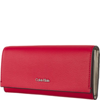 Calvin Klein DOWNTOWN LARGE TRIFOLD RED K60K603935-618
