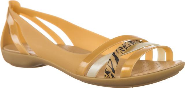 Crocs ISABELLA GRPH HUARACHE 2 FLAT DARK GOLD/GOLD 205147-276