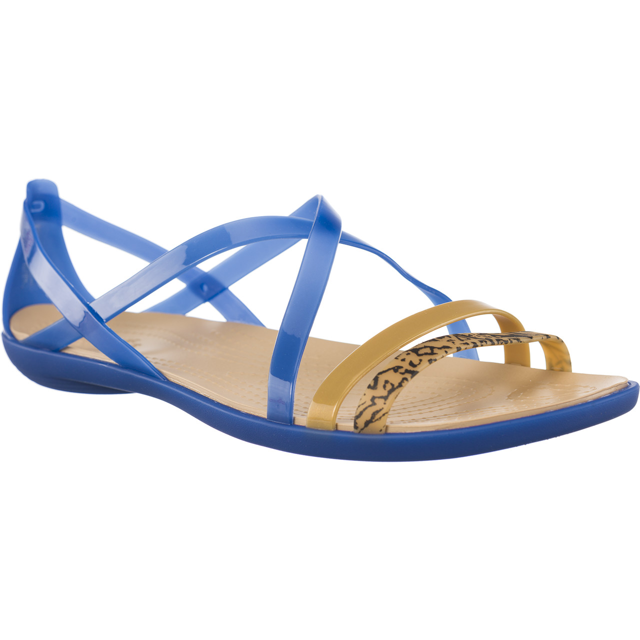 Sandały Crocs  <br/><small>ISABELLA GRPH STRAPPY SANDAL BLUE JEAN/GOLD </small>  205084-4HT