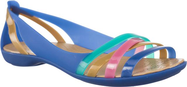 Crocs ISABELLA HUARACHE 2 FLAT W BLUE JEAN/GOLD 204912-4HT