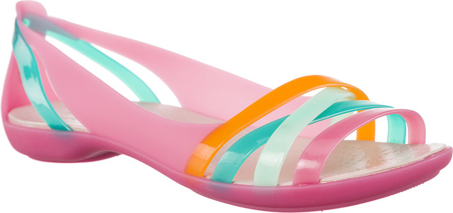 Crocs ISABELLA HUARACHE 2 FLAT W PARADISE PINK/ROSE DUST 204912-6NU