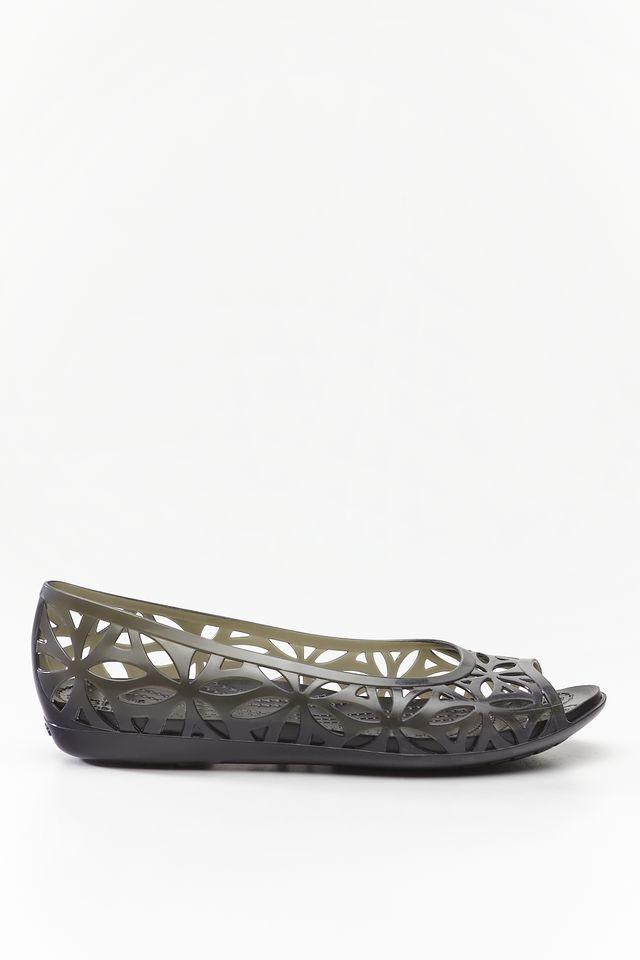 Crocs ISABELLA JELLY II FLAT BLACK/BLACK 204941-060