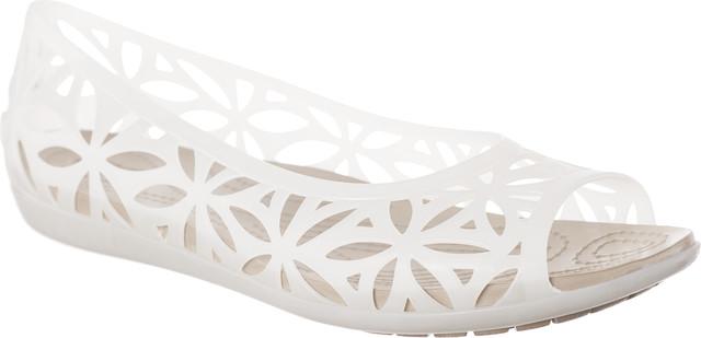 Crocs ISABELLA JELLY II FLAT OYSTER/COBBLESTONE 204941-1C4