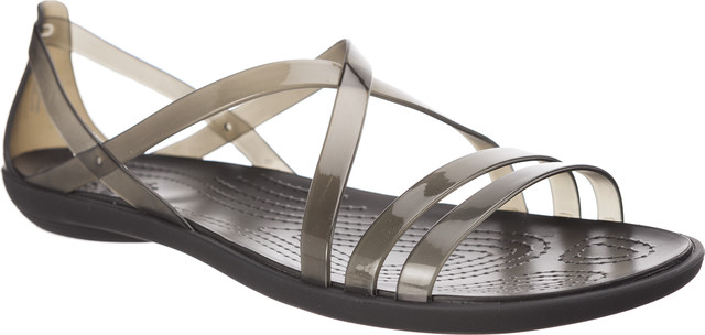 Crocs ISABELLA STRAPPY SANDAL BLACK/LIGHT GREY 204915-001