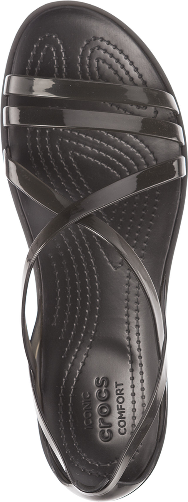 Sandały Crocs  <br/><small>ISABELLA STRAPPY SANDAL BLACK/LIGHT GREY </small>  204915-001