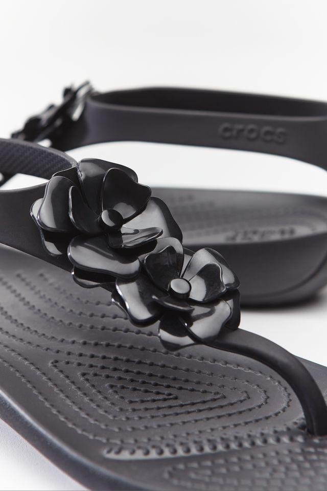 Crocs SERENA EMBELLISH FLIP W 060 BLACK/BLACK 205600