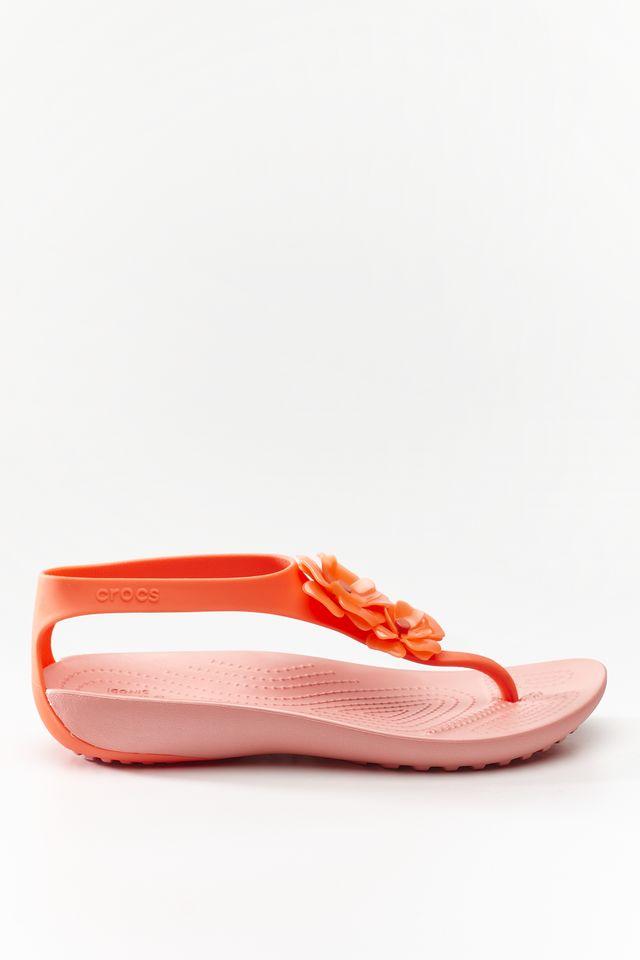 Crocs SERENA EMBELLISH FLIP W 6PT BRIGHT CORAL/MELON 205600