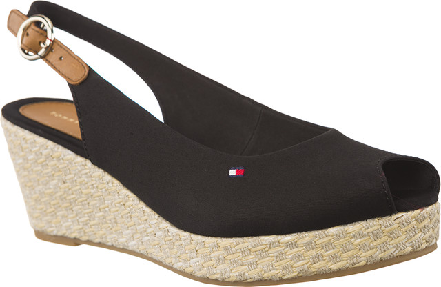 Tommy Hilfiger ICONIC ELBA BASIC SLING BACK 990 BLACK FW0FW02788-990