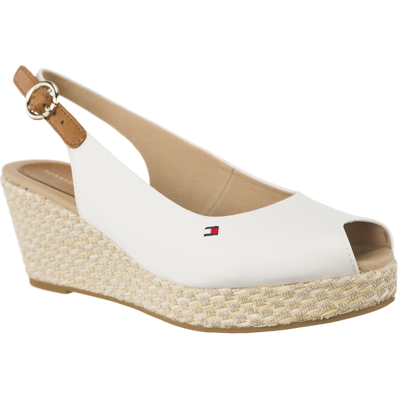 Sandały Tommy Hilfiger  <br/><small>ICONIC ELBA BASIC SLING BACK 121 WHISPER WHITE </small>  FW0FW02788-121