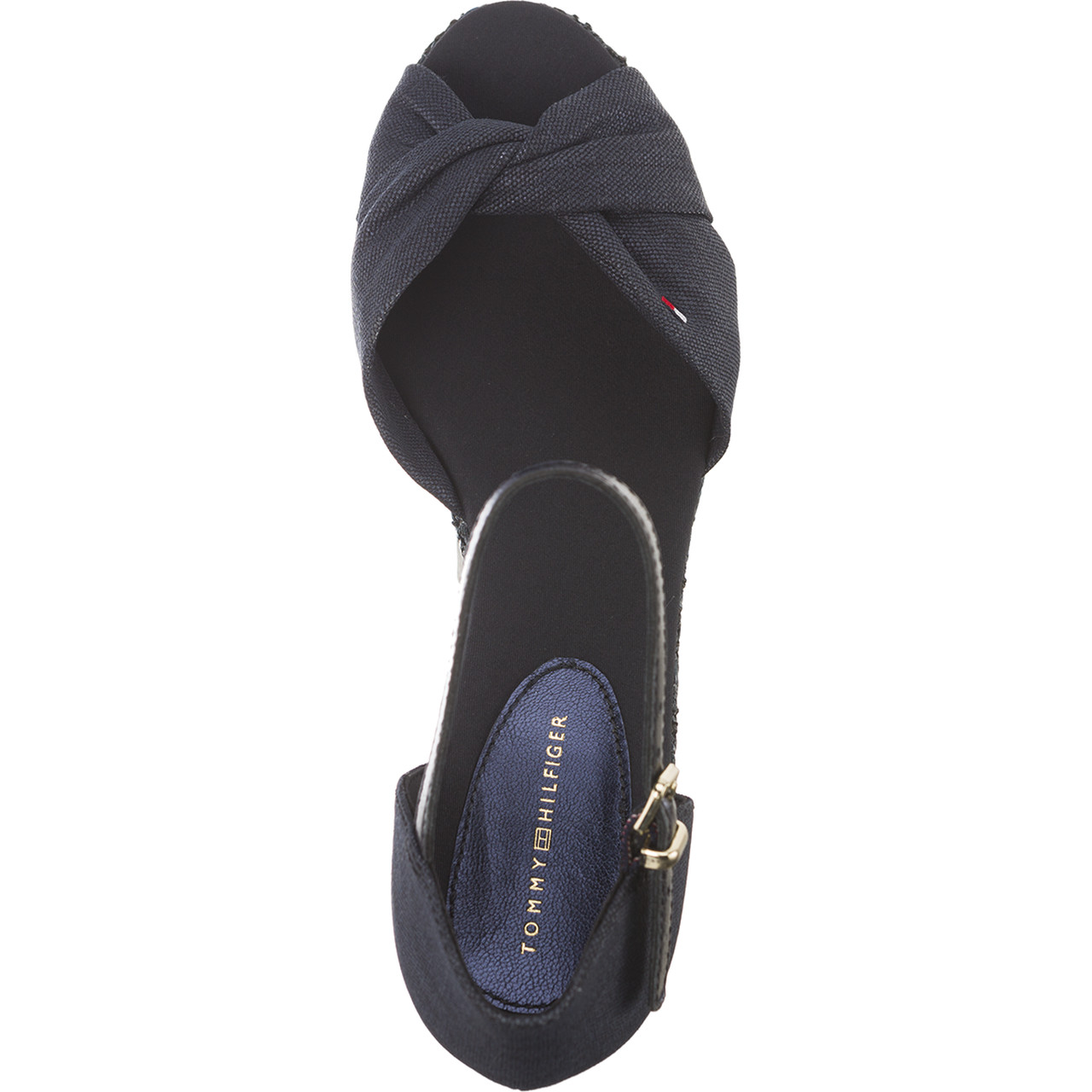 Sandały Tommy Hilfiger  <br/><small>ICONIC ELBA METALLIC CANVAS 403 MIDNIGHT </small>  FW0FW02824-403