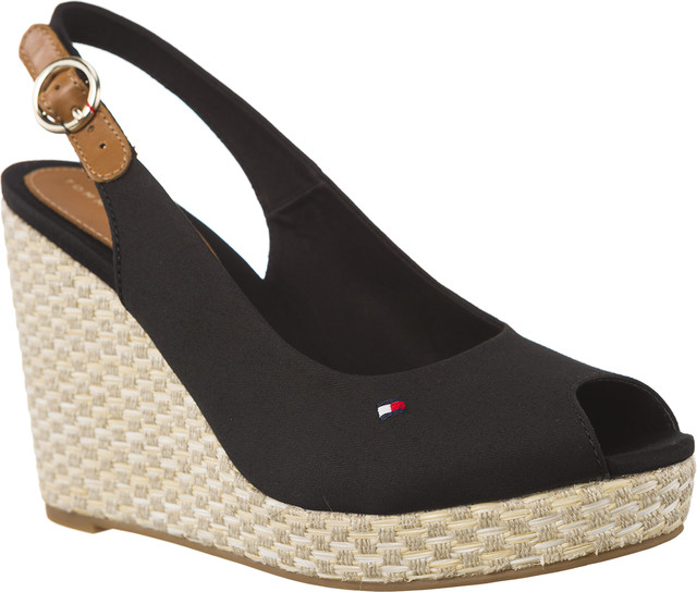 Tommy Hilfiger ICONIC ELENA BASIC SLING BACK 990 BLACK FW0FW02787-990