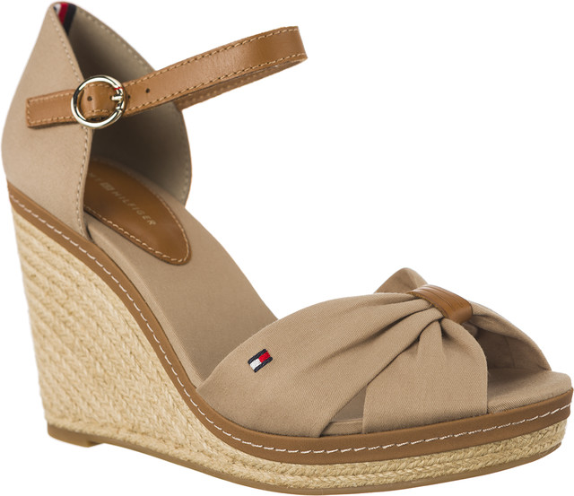 Tommy Hilfiger ICONIC ELENA SANDALS 068 COBBLESTONE FW0FW00905-068