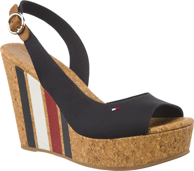 Tommy Hilfiger WEDGE WITH PRINTED STRIPES 403 MIDNIGHT FW0FW02794-403