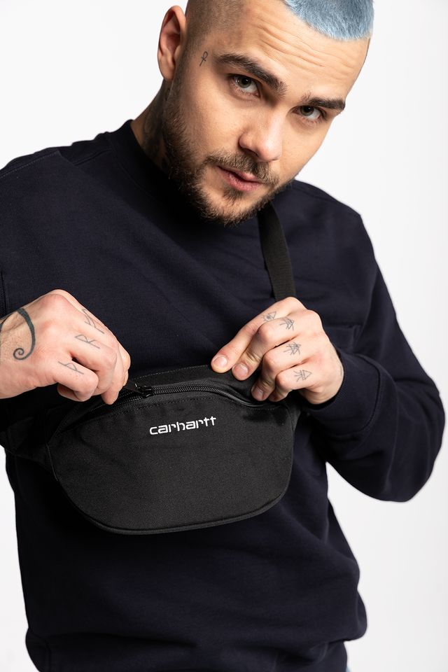 Carhartt WIP PAYTON HIP BAG 8990 BLACK/WHITE I025742-899006