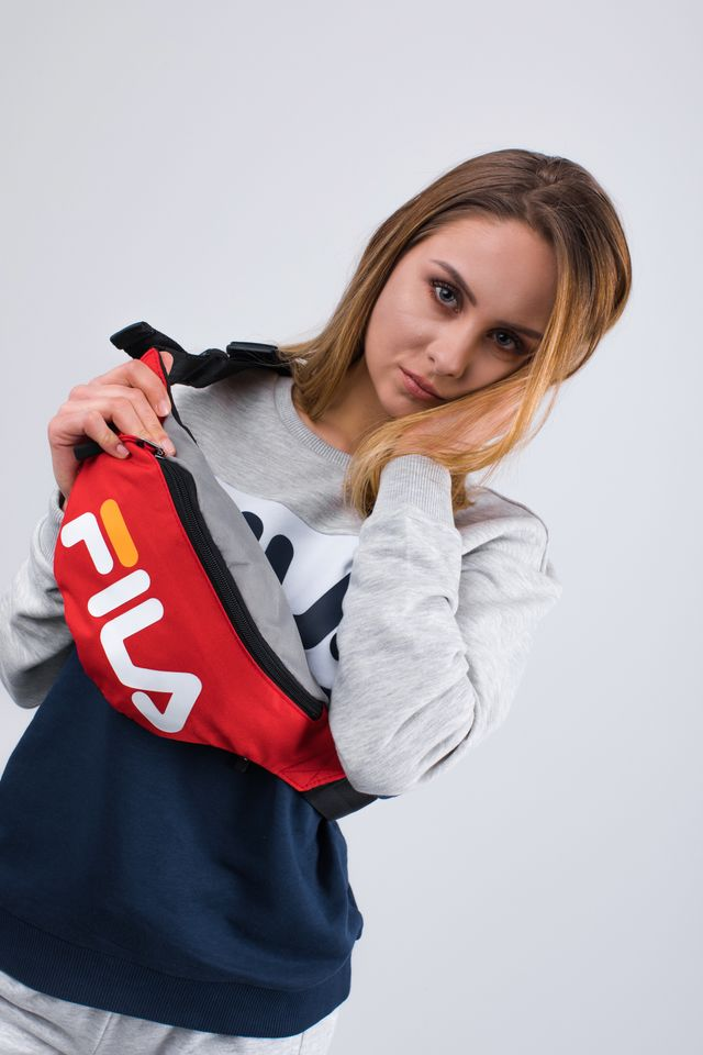 Fila WAIST BAG SLIM 077 COL BLOCK FIERY RED 685003-077