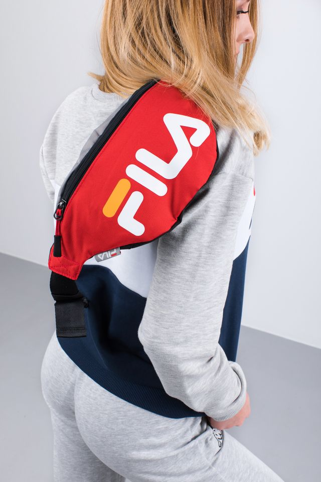 Saszetka Fila  <br/><small>WAIST BAG SLIM 077 COL BLOCK FIERY RED </small>  685003-077