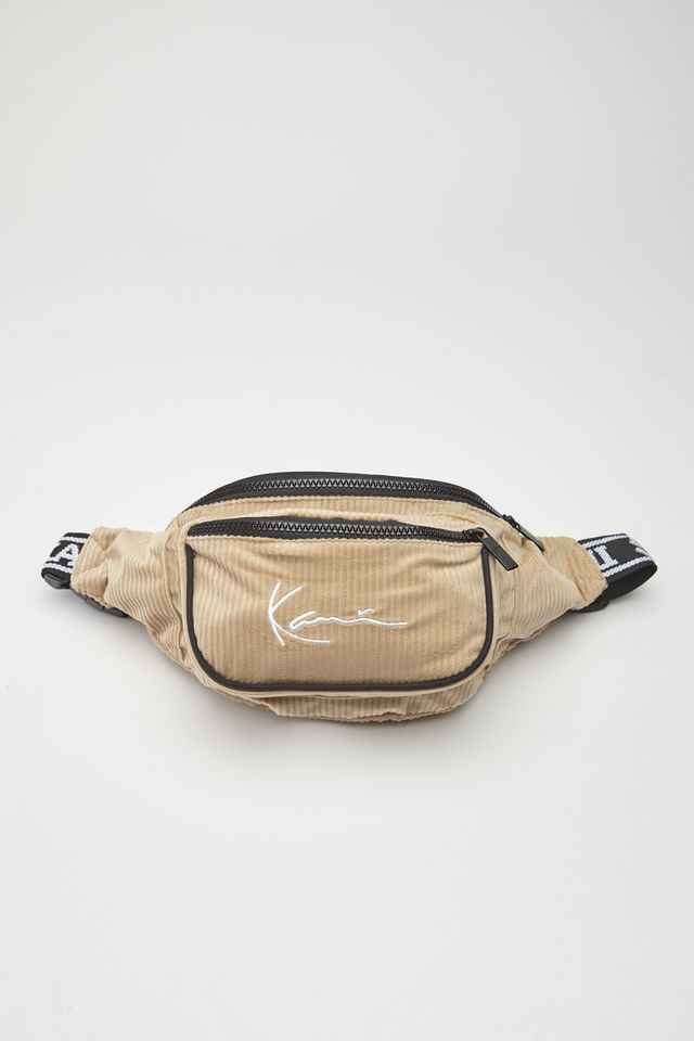 Karl Kani SIGNATURE CORD TAPE WAIST BAG 782 CAMEL/BLACK 4004782