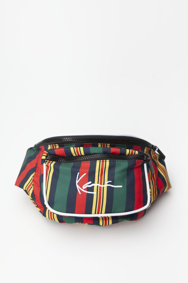 Karl Kani SIGNATURE STRIPE WAIST BAG 630 GREEN/RED/BLUE/YELLOW 4004630