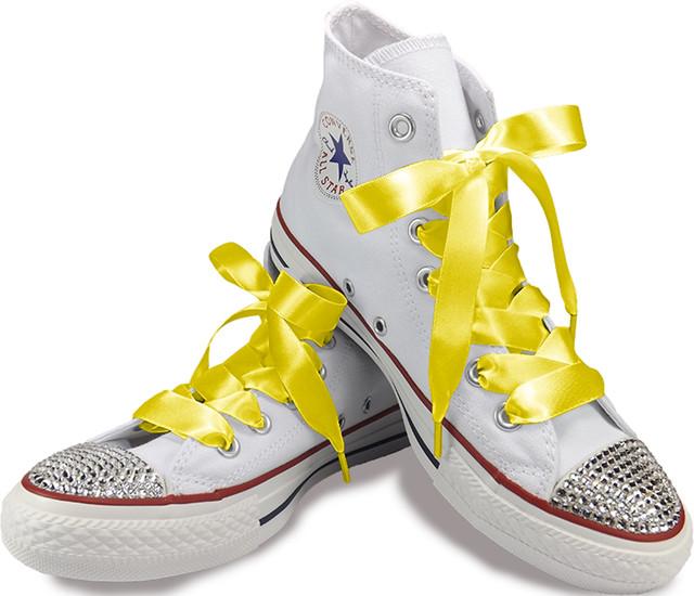 My Ribbon Laces Satynowe sznurówki 120cm Yellow 0E02KP4J