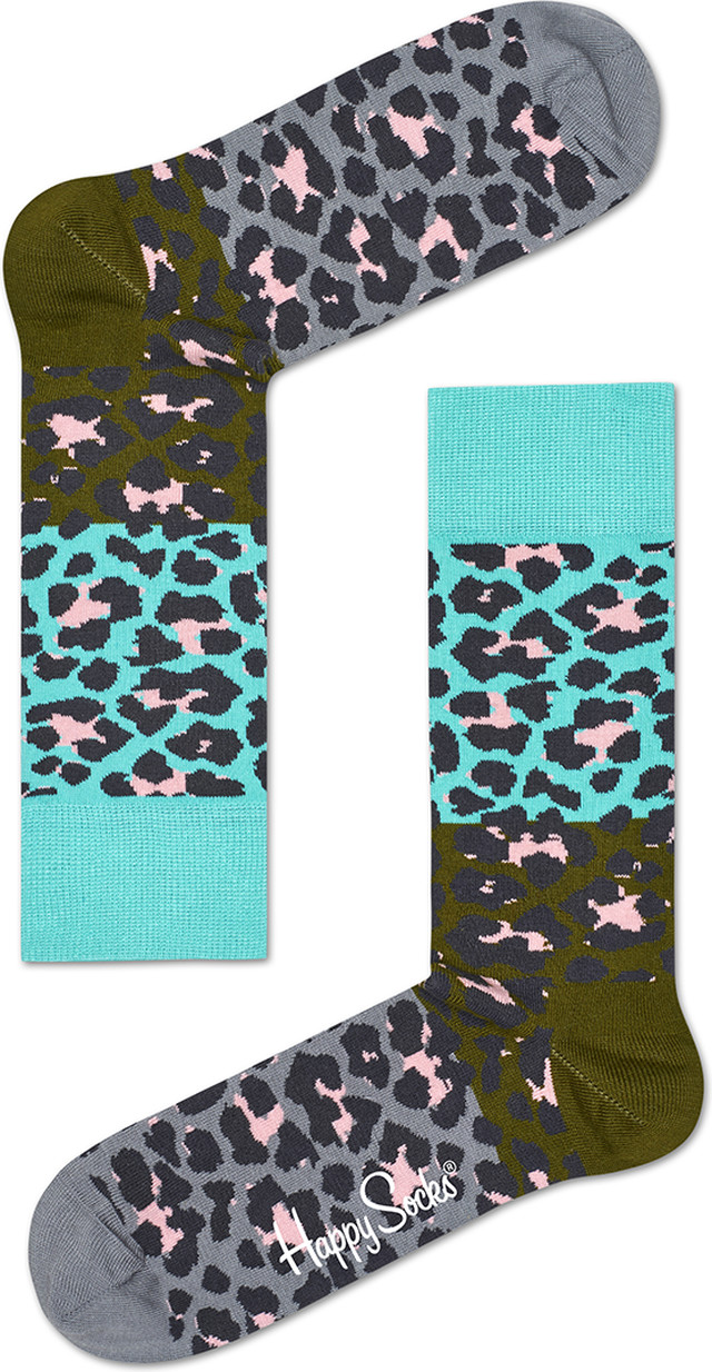 Happy Socks Block Leopard Sock BLE01-7000 4127