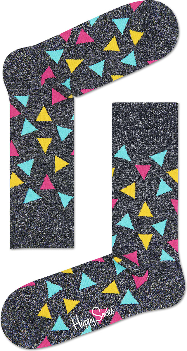 Skarpety Happy Socks  <br/><small>Metallic Triangle Sock TRI36-9000 </small>  4854