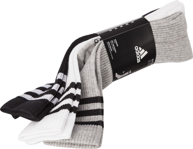 Skarpety 3Pack adidas  <br/><small>3-STRIPES KNEE HC 3PP 440 WHITE/BLACK/MEDIUM GREY HEATHER </small>  AY6440