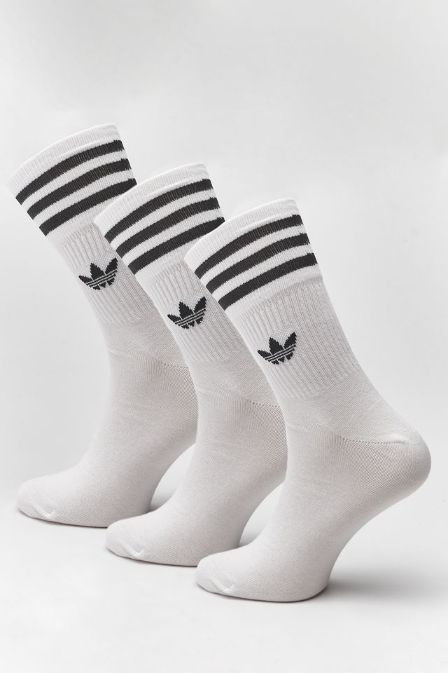 adidas 3Pack  MID-CUT CREW SOCKS 091 WHITE/BLACK DX9091