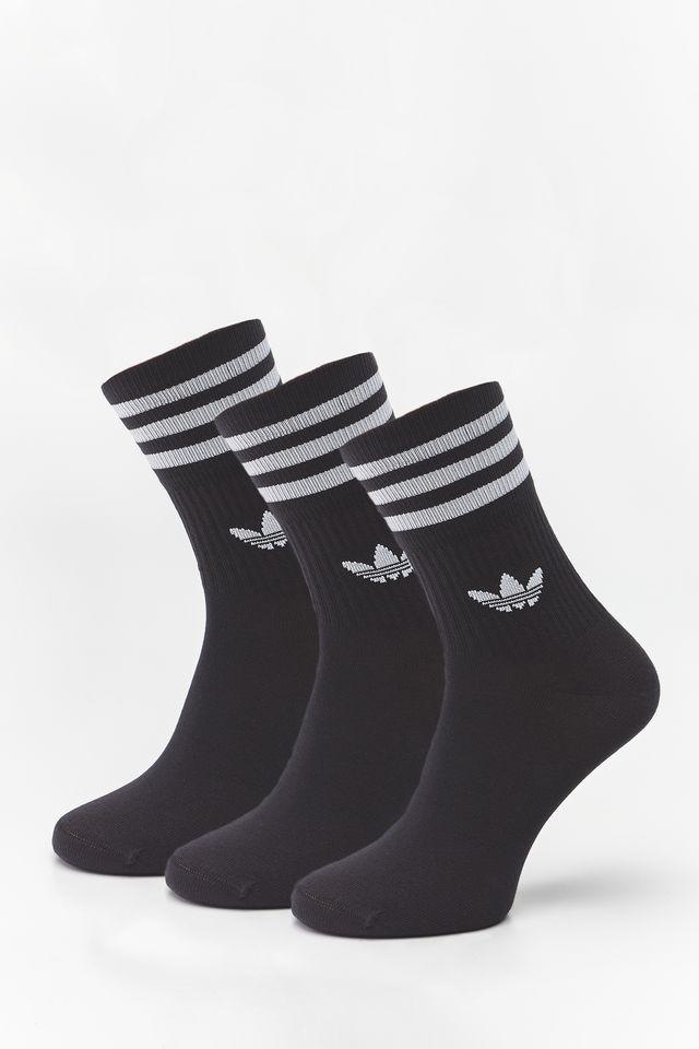 adidas 3Pack  MID CUT CREW SOCKS 092 BLACK/WHITE DX9092