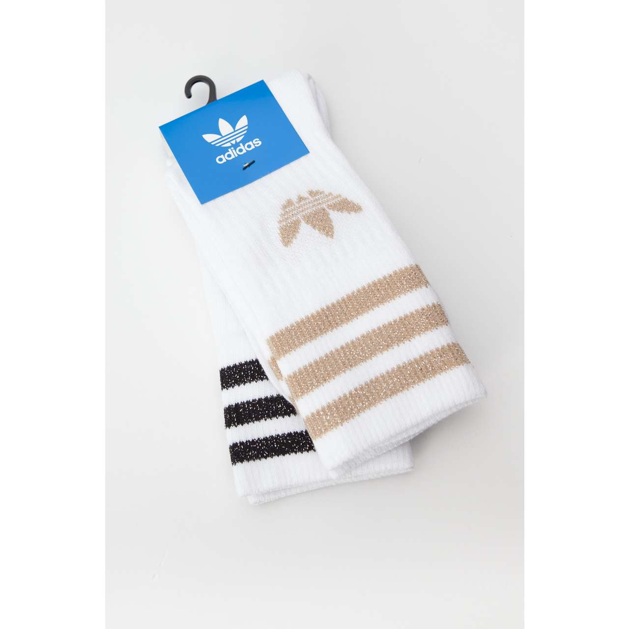 Skarpety 2Pack adidas  <br/><small>MID CUT GLITTER 907 WHITE/ASH PEARL/BLACK </small>  ED5907