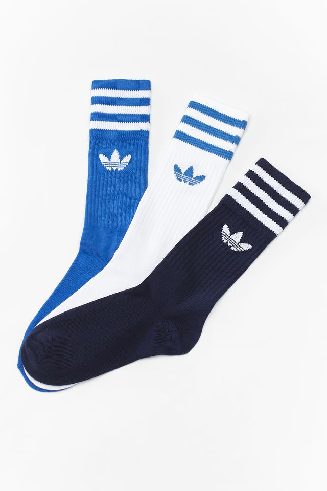 adidas 3Pack  SOLID CREW SOCK 827 MULTICOLOR DW6827