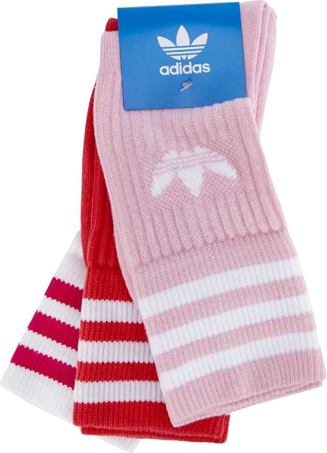 adidas SOLID CREW SOCK 3PACK 383 TRUE PINK/WHITE DY0383