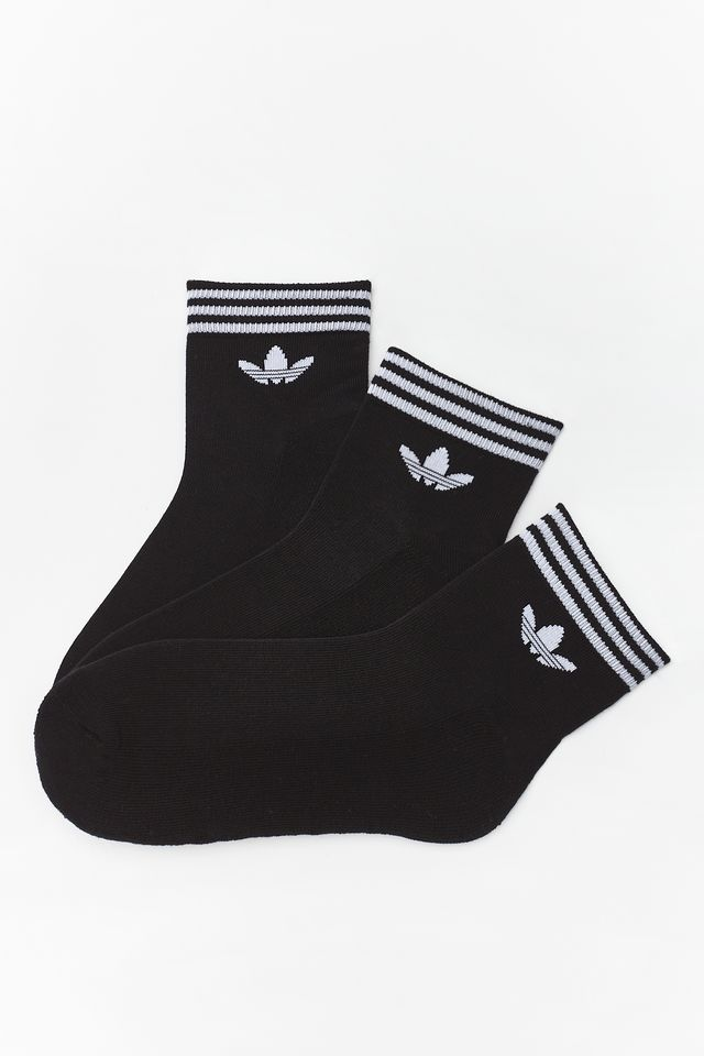 adidas 3Pack  TREFOIL ANKLE SOCKS HC 151 BLACK EE1151