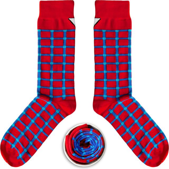 Cup Of Sox Czerwono-Niebieskie w Kratę Unkeyboardinated C