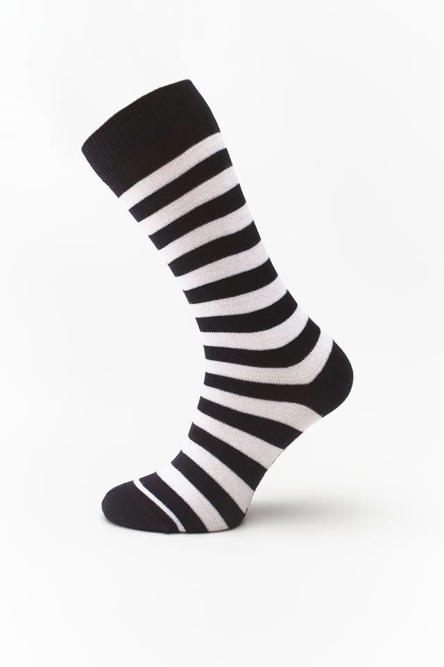 Dr. Martens THIN STRIPE SOCK WHITE/BLACK DMAC694101