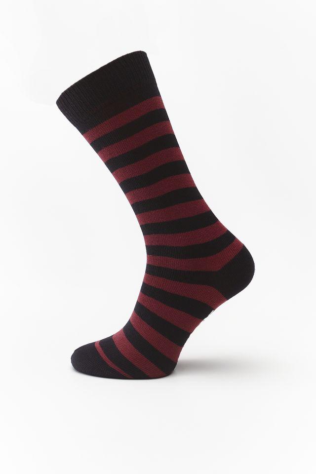Dr. Martens THIN STRIPE SOCKS CHERRY RED/BLACK DMAC694601