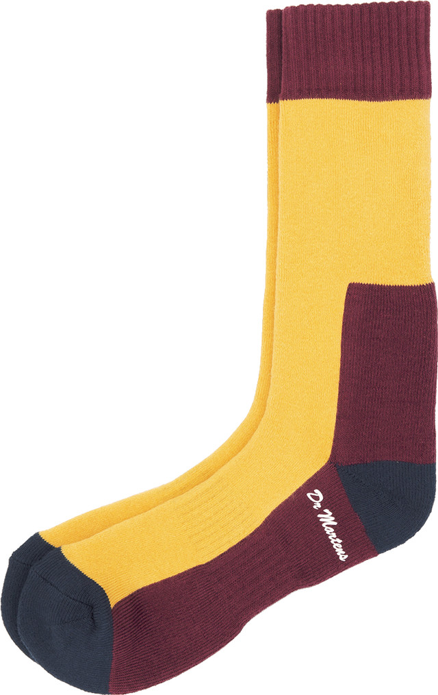 Skarpety Dr. Martens  <br/><small>Sock Yellow Navy 003 </small>  AC237003