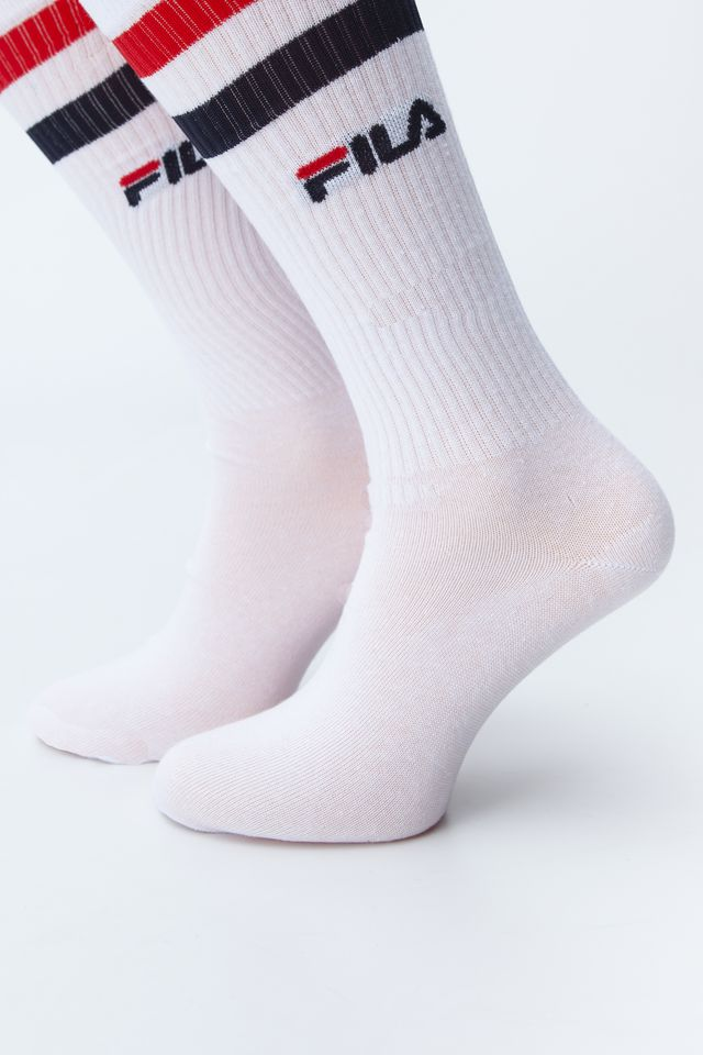 Fila 2Pack  BASKET SOCKS 300 WHITE F9637-300