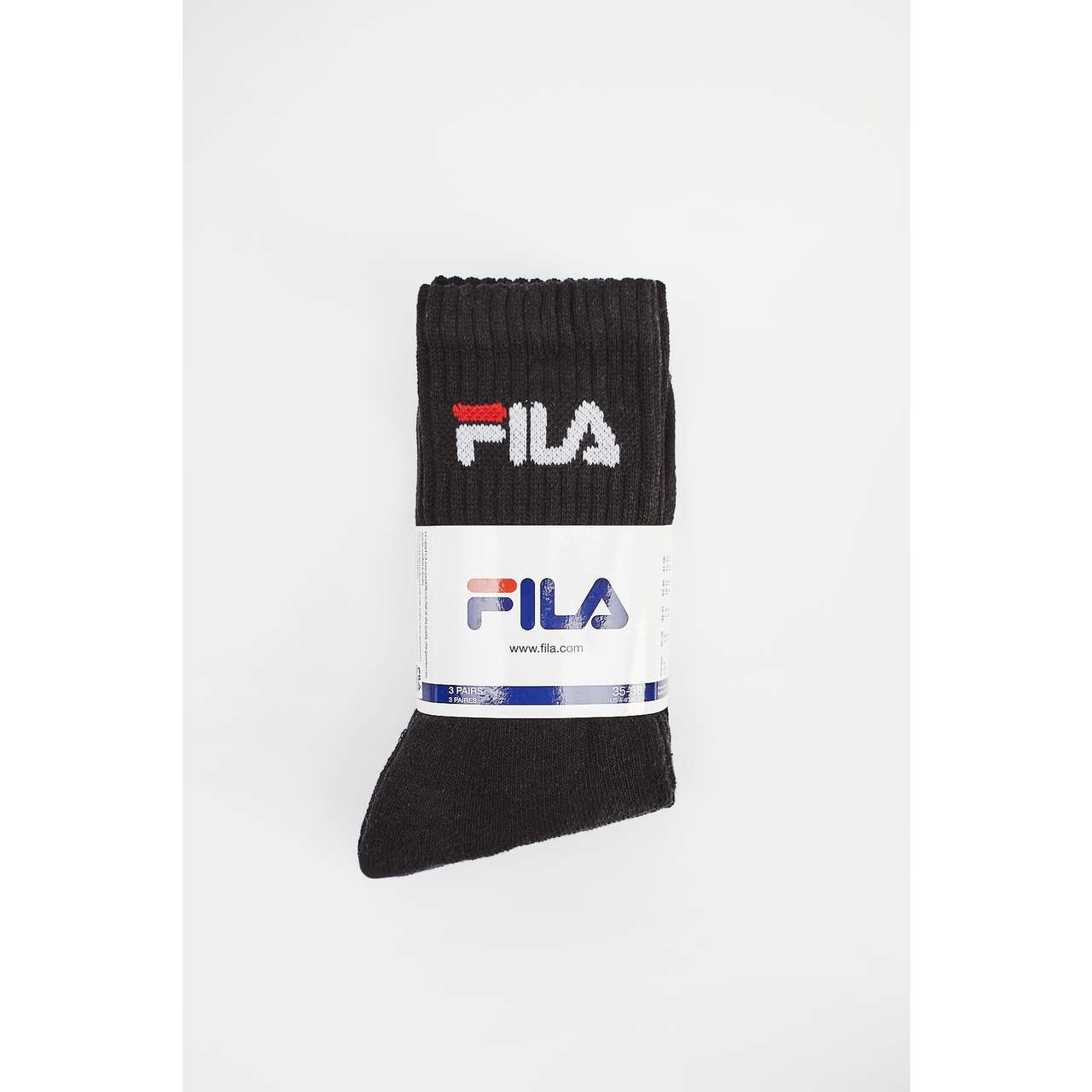 Skarpety 3Pack Fila  <br/><small>TENNIS SOCKS 3 PAIRS 200 BLACK </small>  F9505-200