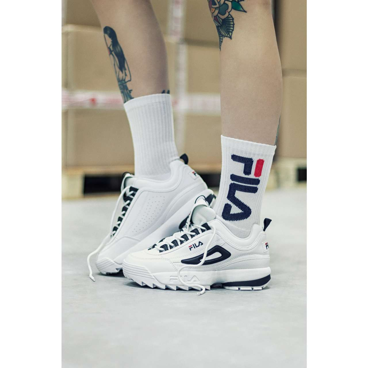 Skarpety 2Pack Fila  <br/><small>TENNIS SOCKS URBAN COLLECTION 2 PAIRS 300 WHITE </small>  F9598-300